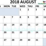 August 2018 Calendar Landscape