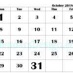 Printable Calendar for October PDF