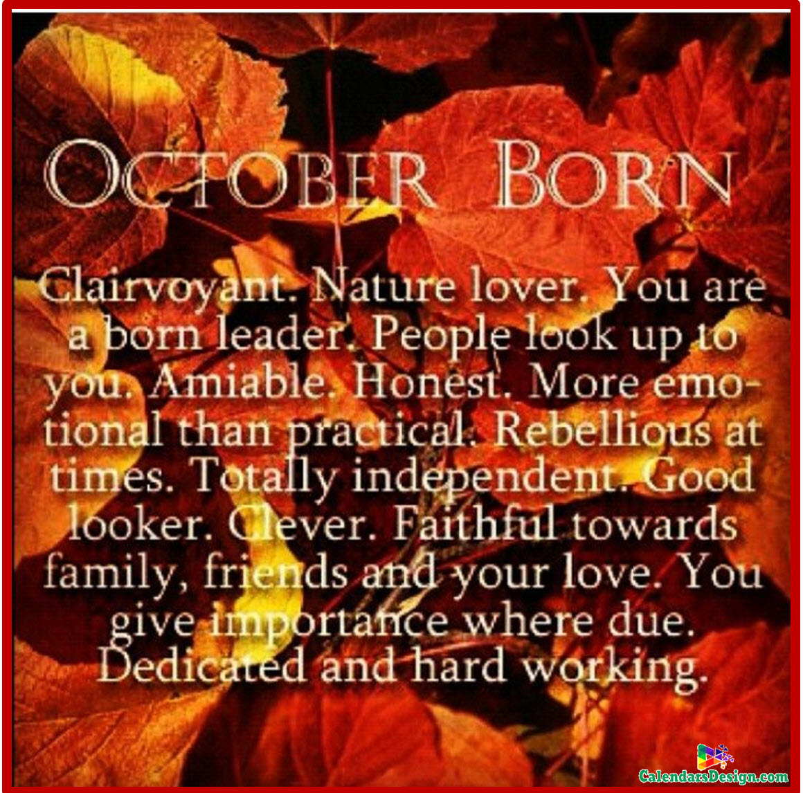 Born in October Month Sayings