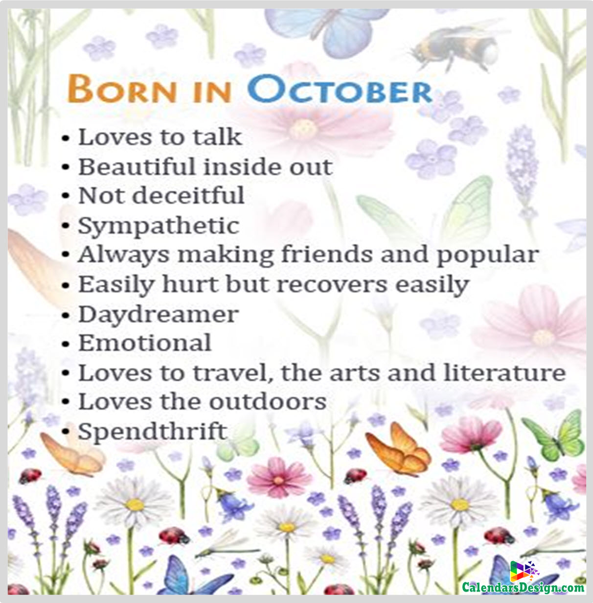 Born in October Sayings