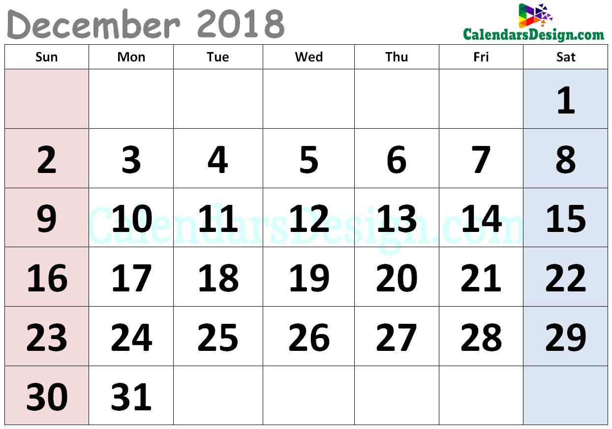 Cute Calendar for August 2018
