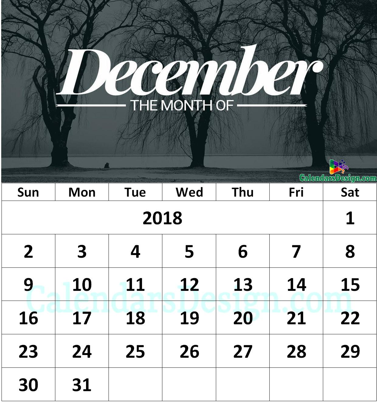 December 2018 Calendar Tumblr Free 2019 Printable Calendar