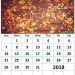 Floral October 2018 Wall Calendar