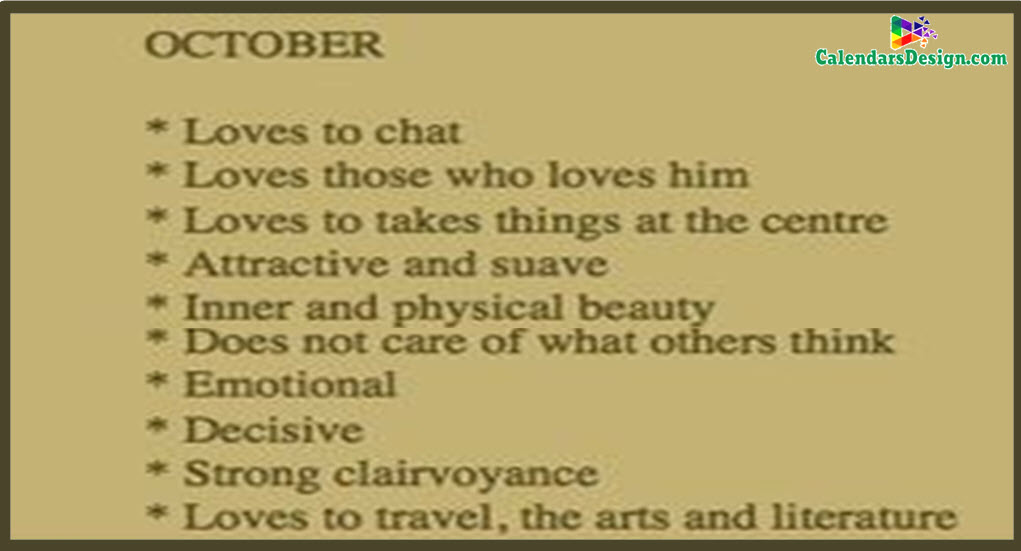 Month of October Quotes