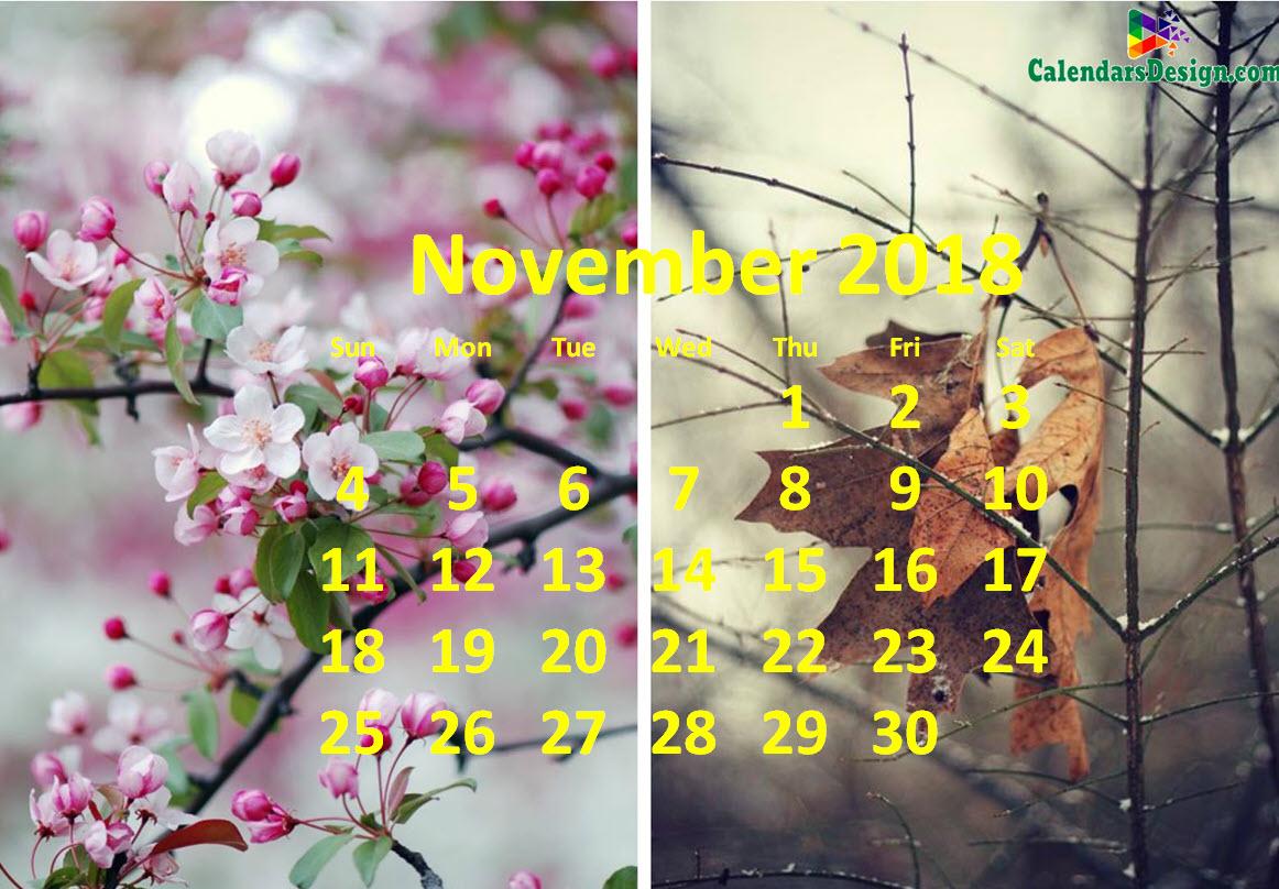 November 2018 Calendar Tumblr
