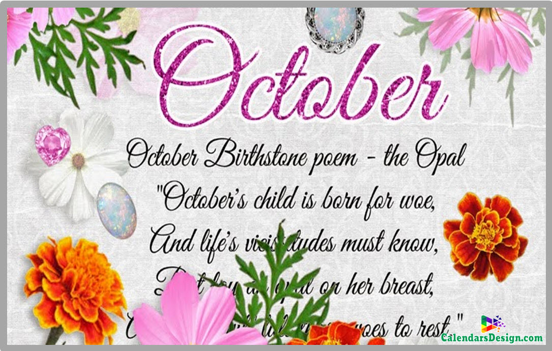 October Month Flowers Images