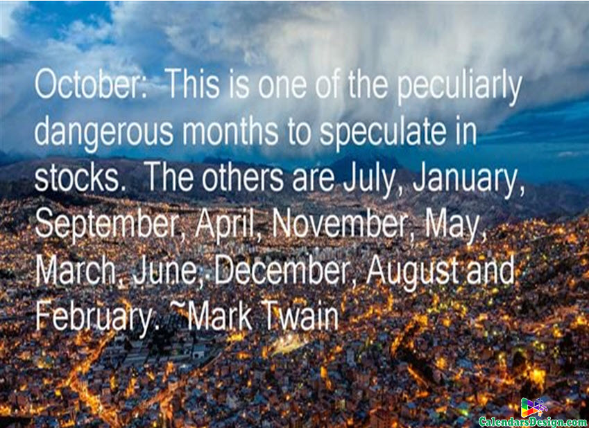 Quotes for October Month - Free 2019 Printable Calendar