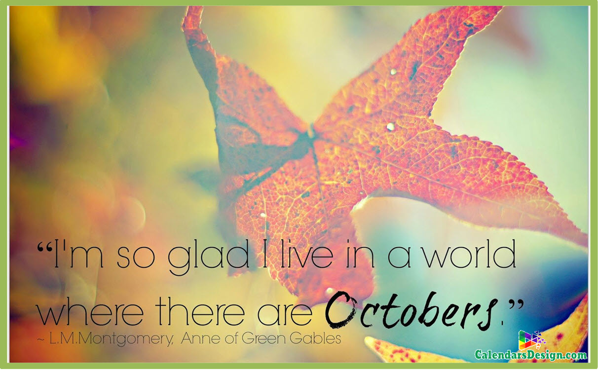 Welcome October Month Sayings