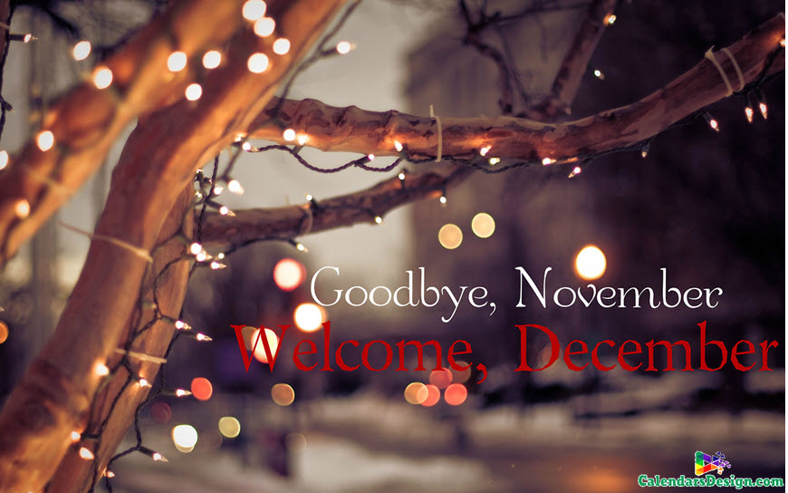 Goodbye November Hello December Clipart