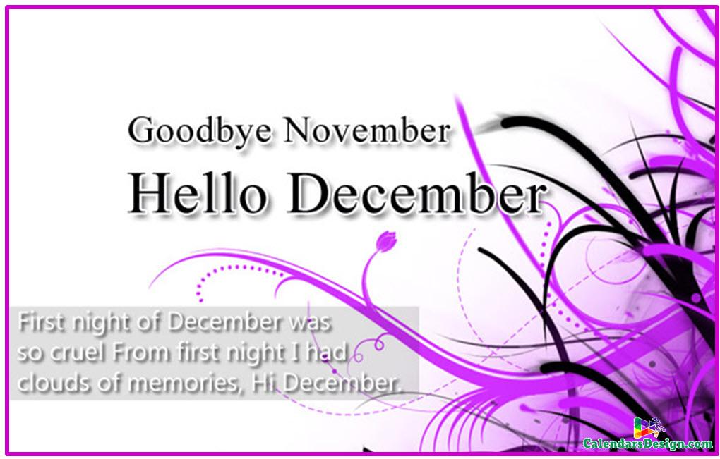 Goodbye November Hello December Quotes