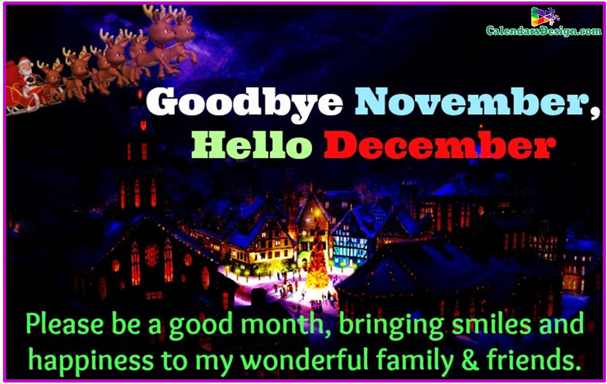 Goodbye November Hello December Sayings