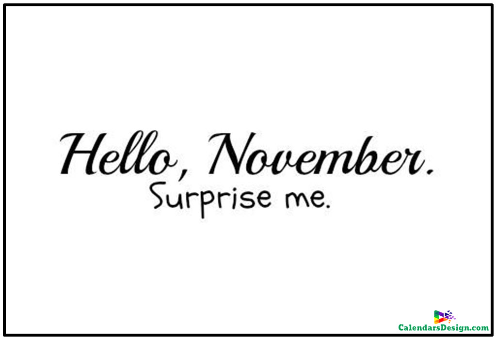 Hello November Clip Art
