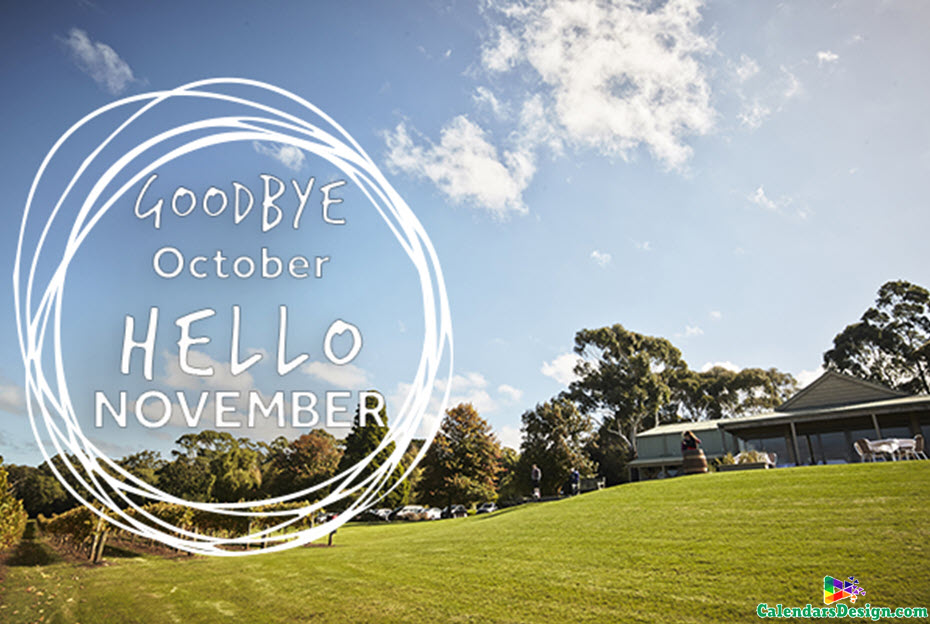 Hello November Goodbye October Month