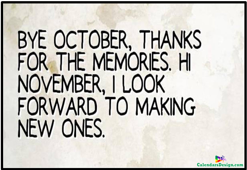 Hello November Month Sayings