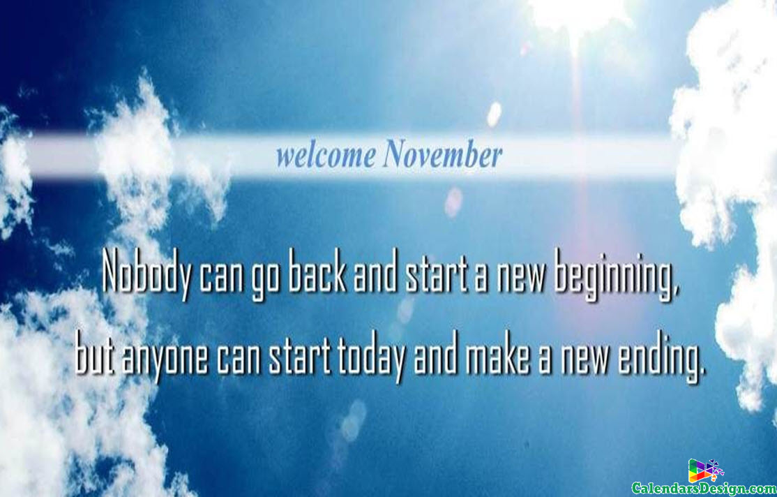 Welcome November Wallpaper
