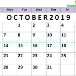 October 2019 Calendar PDF
