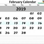 February Calendar 2019 Printable