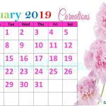 Floral January 2019 Calendar Printable
