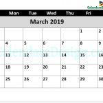 March 2019 Calendar Word Doc