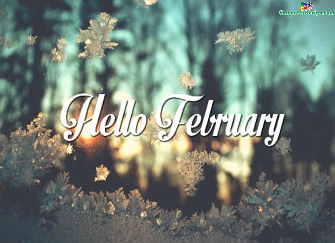 Hello February Flowers Photos