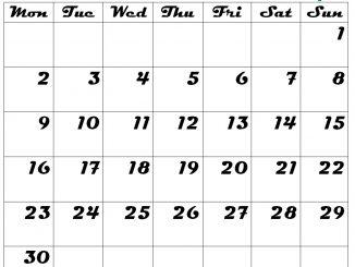 Blank September Calendar 2019 Template