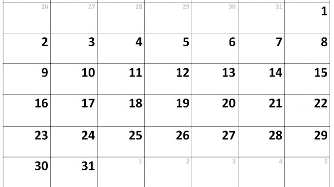 Calendar for December 2019