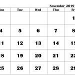 November 2019 Calendar in PDF