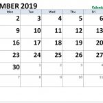 September 2019 Calendar Word Doc