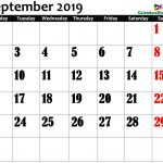 September 2019 Calendar in Page