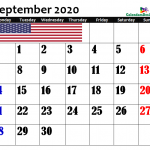 Calendar for September 2020 US