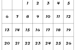 December 2020 Calendar A4 Size