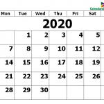Printable Calendar for September 2020 PDF