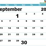 Printable Calendar for September 2020 Templates