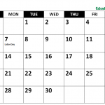Printable September 2020 Holidays With Notes