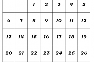 September 2020 Calendar A4 Size