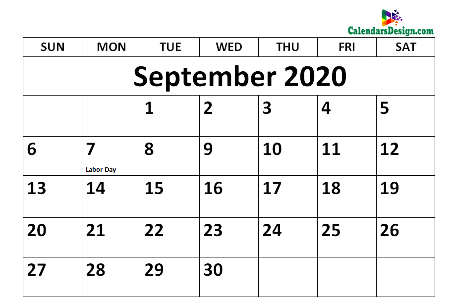 September 2020 Calendar Holidays