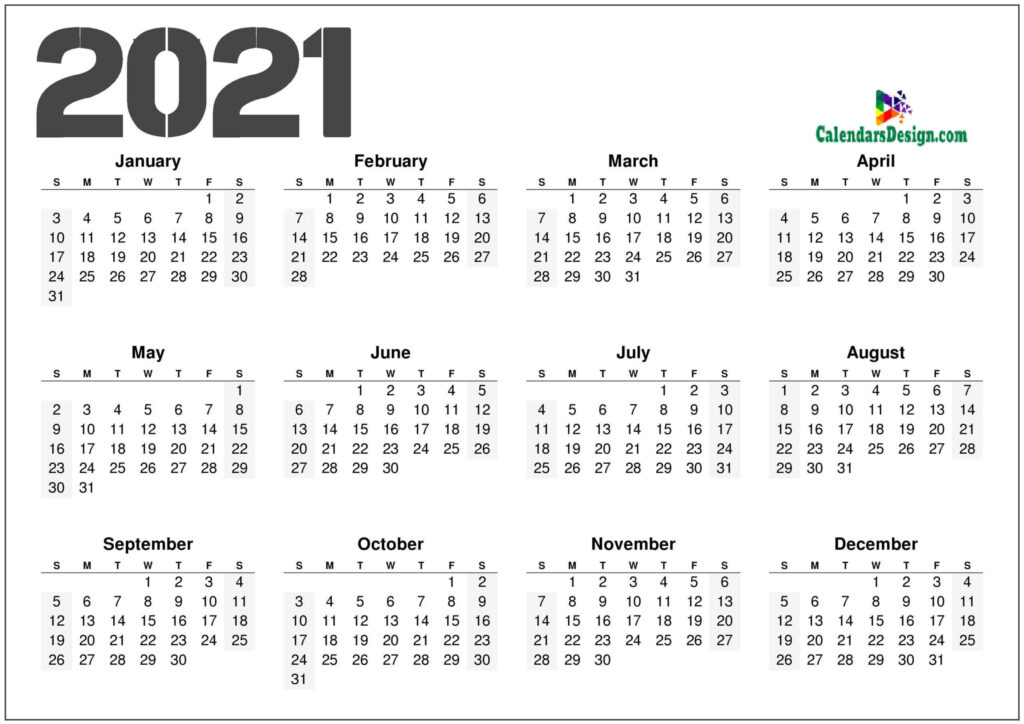 12 month calendar download