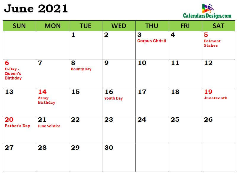 June 2021 Calendar South Africa with Holidays