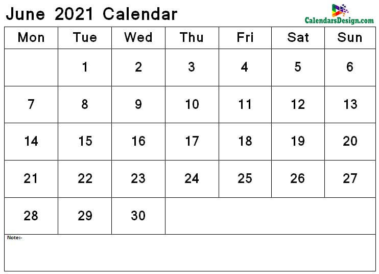 June 2021 calendar png