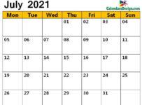 blank Jul 2021 calendar with notes