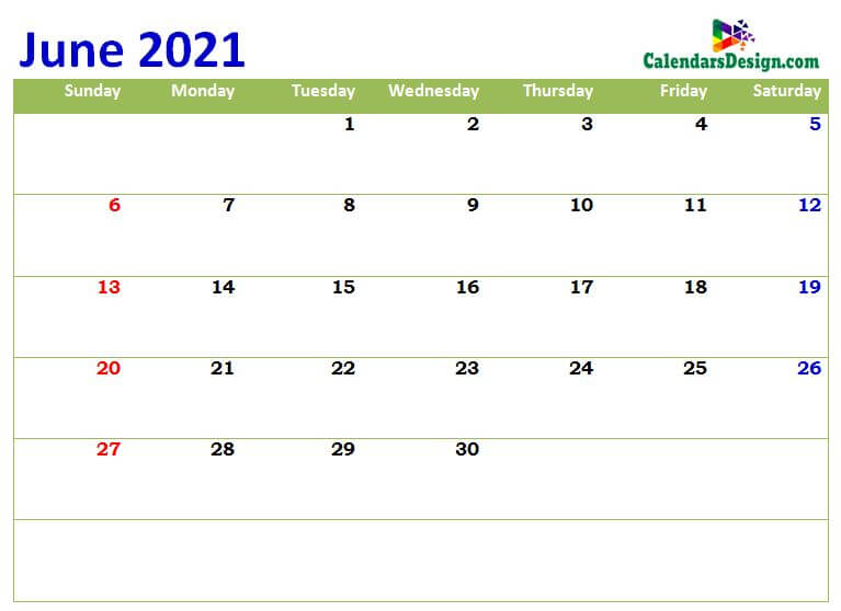 print cute Jun 2021 calendar