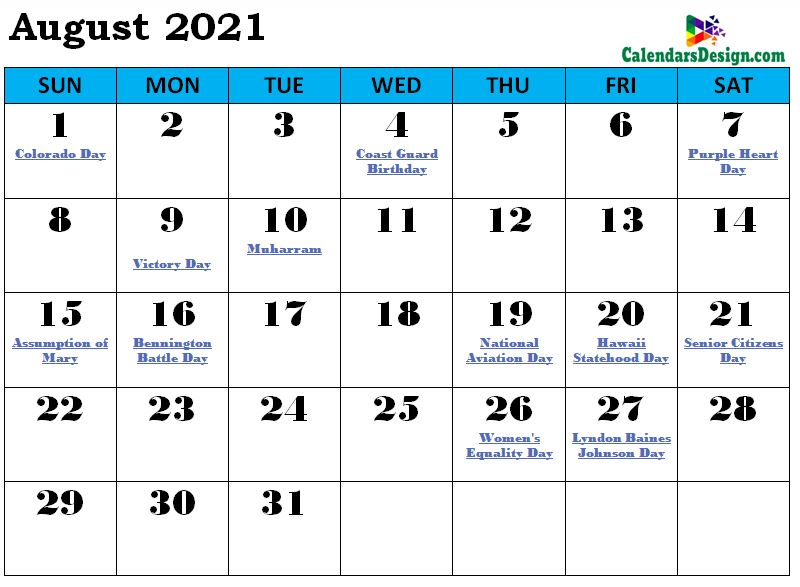 August 2021 Calendar South Africa with Holidays