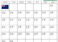 August Calendar 2021 New Zealand