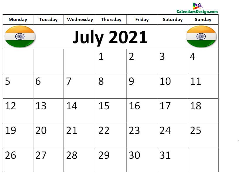 July 2021 Calendar Panchang