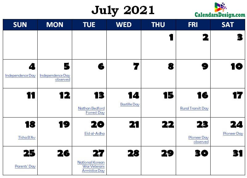July 2021 Calendar South Africa with Holidays