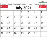 July 2021 Singapore calendar