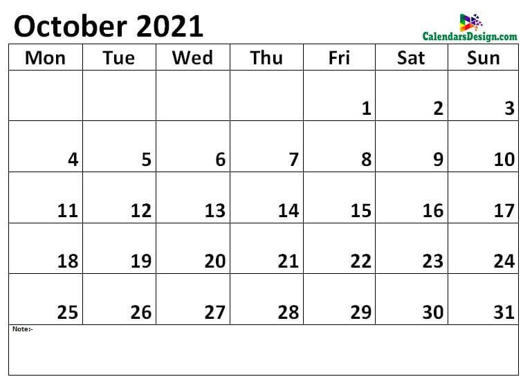 October 2021 calendar jpg