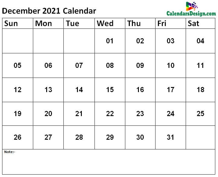 free Dec calendar 2021 printable