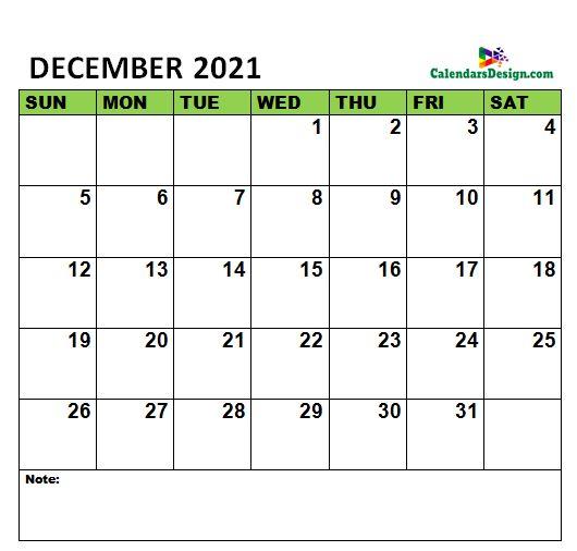 December 2021 Calendar to edit