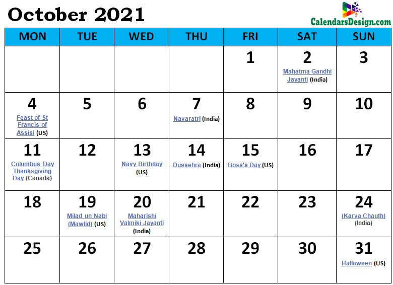 October 2021 Calendar South Africa with Holidays